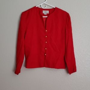Adrianna Papell Red Jacket